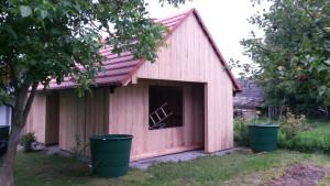 Kompletní výroba a montáž dřevníku a skladu na zahradní nářadí dle přání zákazníka. Cerhonice