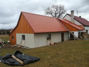 rekonstrukce krovu,pokládka stř krytiny Údraž